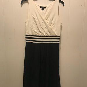 White and navy dress